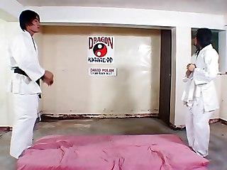 Hot Asian Dojo Work Out