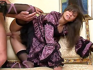 Sweet Stylish Lola In Vintage Dress Having Sex