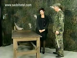Angry Drill Instructor Forces His Horny Secretary To Bend Over And Spanks Her On Her Big Ass