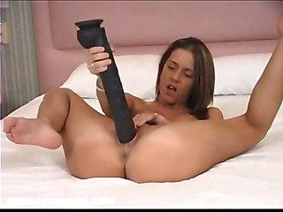 Pamela Loves Using Huge Brutal Dildos To Fuck Her Tigh Pussy