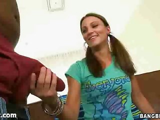 Smut Teen Tastes Fat Black Dick!